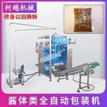 袋裝蓮蓉醬全自動包裝機 餡料膏體類定量包裝機 雙泵定量包裝機械