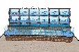 白云龍歸海鮮池訂做工廠 超市生鮮海鮮池定做