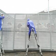 蘇州鋁合金百葉窗空調圍欄蘇州中央空調罩定做圖片