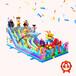 鄭州百美游樂充氣城堡滑梯,細致充氣城堡設計合理