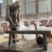 衢州玻璃鋼人物雕塑色澤光潤,仿銅雕塑