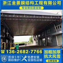 金菱膜结构免拆电动雨棚,南昌电动推拉棚图片