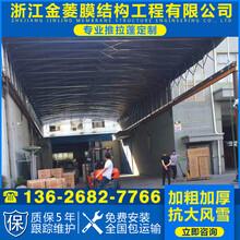 金菱膜结构免拆电动雨棚,徐州电动雨棚厂家直销图片