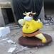 玻璃鋼公仔雕塑-玻璃鋼氣球雕塑廠-動物卡通雕塑制作廠