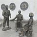 仿銅人物雕塑黨建文化雕塑玻璃鋼人物雕塑廠