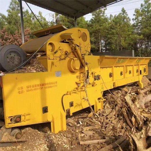 破碎机二手树根破碎机,二手木头方破碎机处理