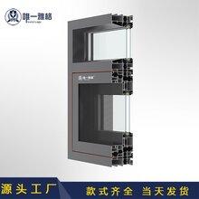九江推拉门窗铝型材1.4mm门窗铝型材定制加工批发价格图片