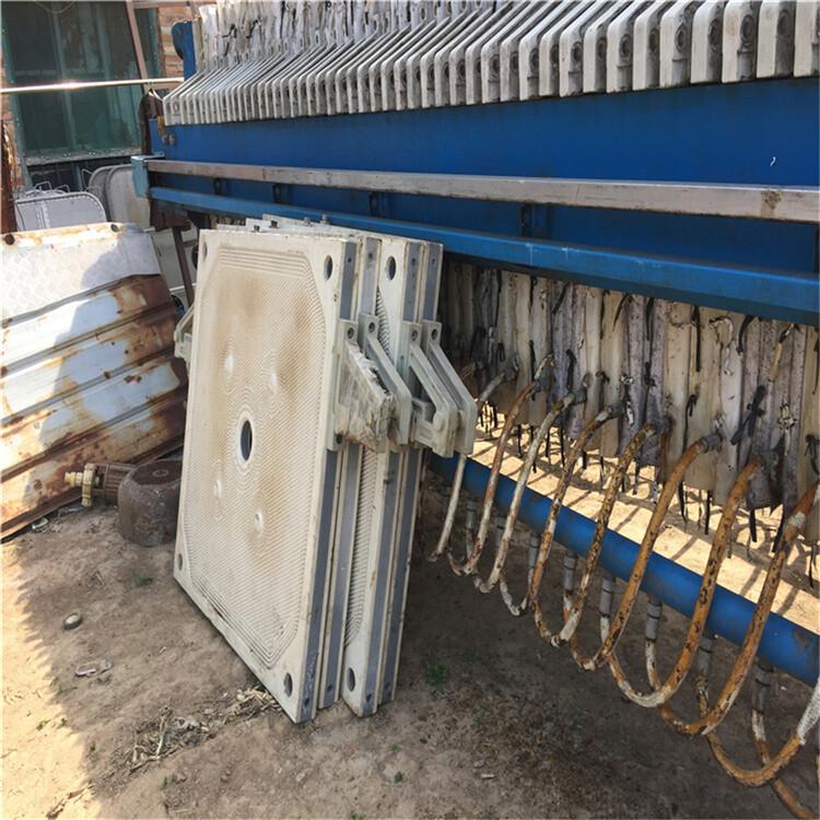 西安回收二手全自動板框壓濾機二手污水處理壓濾機