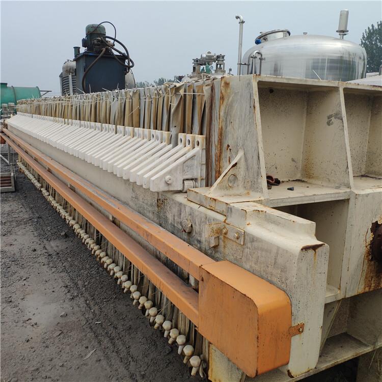 揚州回收二手板框式隔膜壓濾機二手污水處理壓濾機