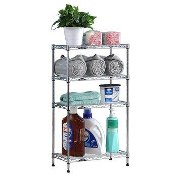 美之高置地式置物架厨房浴室置物收纳架强承重防锈四层收纳