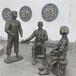 廣州仿銅玻璃鋼雕塑古代人物雕塑