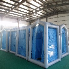 生產邦麥爾單人洗消帳篷款式齊全,4平米單人洗消帳篷圖片