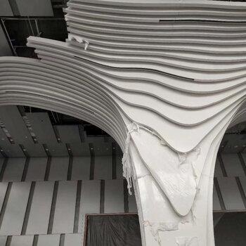聯科弧形鋁方通,訂制聯科波浪弧形鋁方通天花包柱拉彎鋁樹造形吊頂設計合理