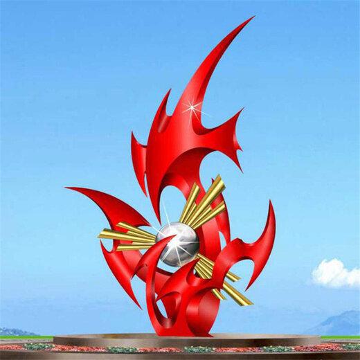 河南不锈钢火焰雕塑生产厂家,不锈钢火炬雕塑