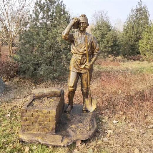 唐韵酒文化雕塑,湖北酿酒人物雕塑加工厂家