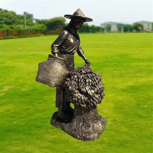 唐韵喝茶人物雕塑,青海茶文化雕塑制作
