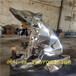 時尚玻璃鋼電鍍色澤光潤,玻璃鋼動物雕塑