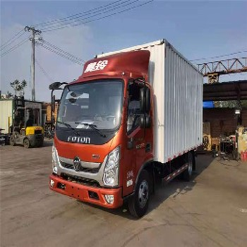 福田奧鈴國六箱式貨車藍牌4米2速運降價銷售