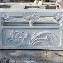 精細梅蘭竹菊雕刻欄板量大從優圖片