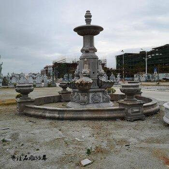 人物噴水池石雕花缽批發