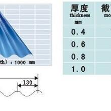 壓型鋼板彩色波紋板,巴彥淖爾防震鍍鋁鋅板彩板圖片