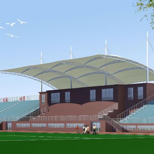 鹽城新款膜結構廣場觀景施工