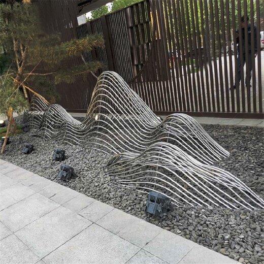 大型不锈钢假山雕塑,雕塑假山