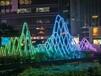 商場走廊裝飾燈-彩色滿天星-七彩led燈串-彩色造型燈