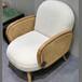 藤藝家具扶手配件半成品藤椅休閑椅框架木架捫藤配套