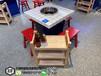 天津電磁爐烤魚店卡座桌椅組合自助電燒烤爐桌