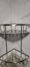 304不锈钢加厚材质浴室三角架杂物架设计简约适合不同的需求图片