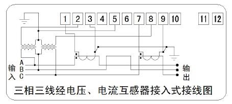 注:1,实际接线图和辅助端子图以表计端子盖上的图为准.