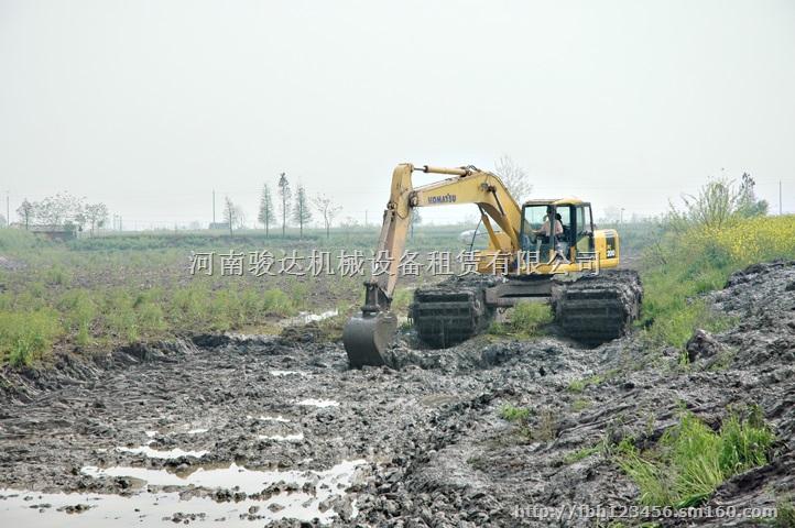 洛阳-水上挖掘机出租-湿地挖掘机-船挖出租