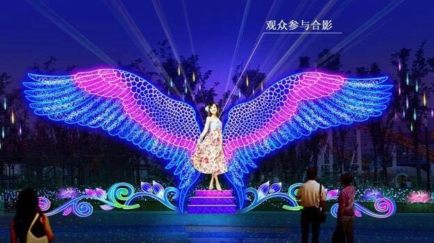 玲珑剔透灯光秀策划设计把那曲缔造成一个灯光星海王国图片