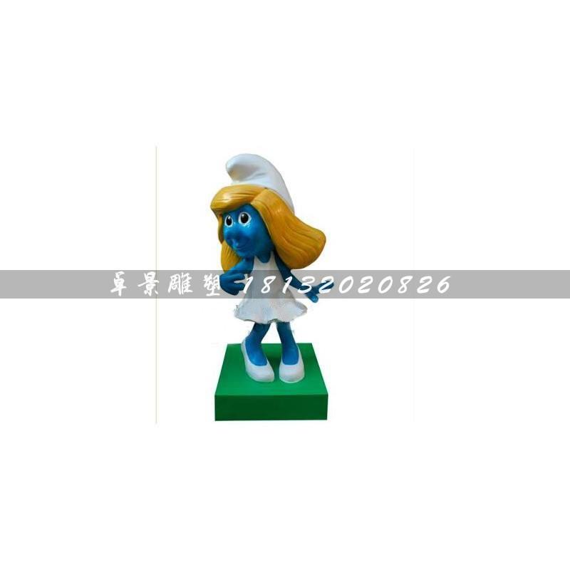 【玻璃钢蓝精灵公园卡通人物雕塑】-黄页88网