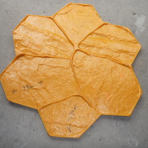上海彩色透水混凝土地坪材料供应商·生态道路地坪材料·模具定制