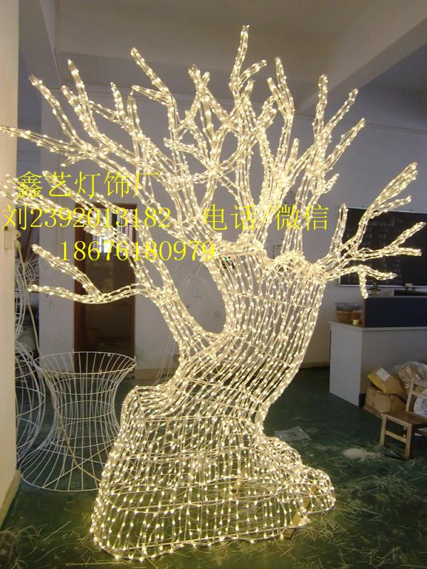植物雕塑造型灯