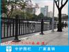 廣州人行道護欄現貨蘿崗路側黑色隔離欄桿市政柵欄廠家
