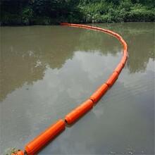 蕪湖河道桔紅色攔水草浮筒加工水電站攔污漂排浮筒
