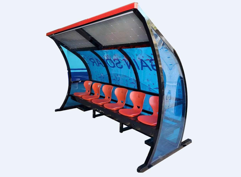 智慧教練座椅戶外公園座椅太陽能充點電座椅