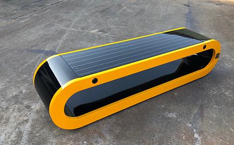 智慧太阳能座椅公园座椅产品实拍