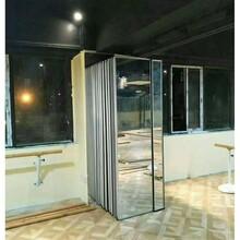 深圳会议室折叠玻璃隔断移动屏风门厂家图片