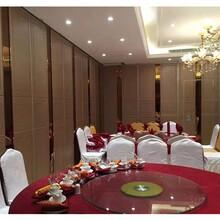 深圳宝安酒店推拉门活动隔断折叠屏风设计安装图片