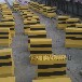 水泥隔離墩道路混凝土隔離墩廠保定清苑2021供應黃黑色