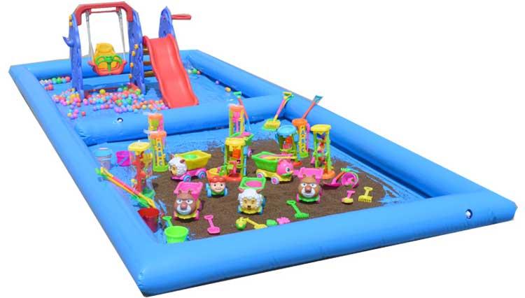 儿童充气沙池大型加厚决明子玩具沙滩公园广场摆摊水池