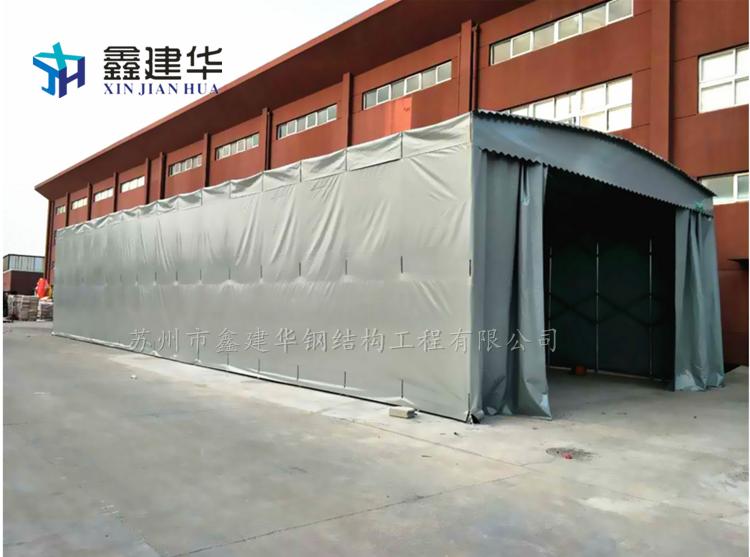 【推拉蓬活动雨棚大型工厂仓库蓬固定蓬遮阳夜市大排档蓬物流棚定做
