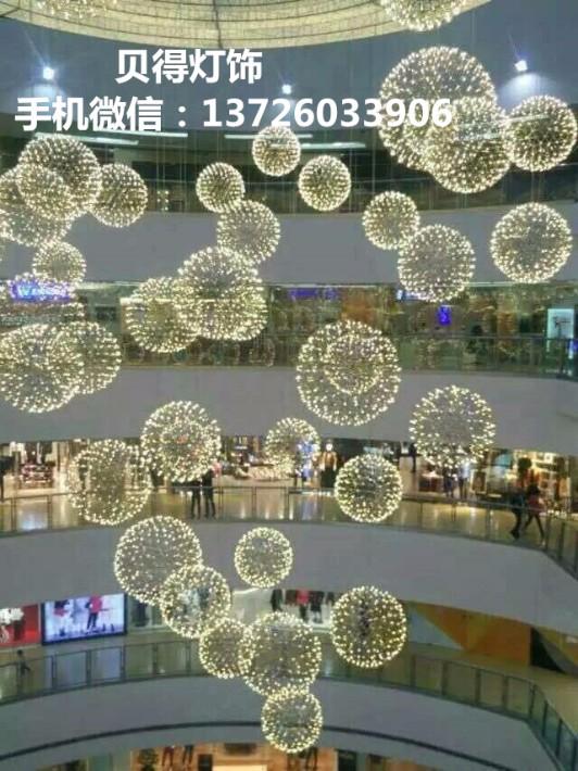 南京商场中庭吊灯大型商场酒店中空装饰长挂垂挂吊灯中庭景观吊灯贝得灯饰厂