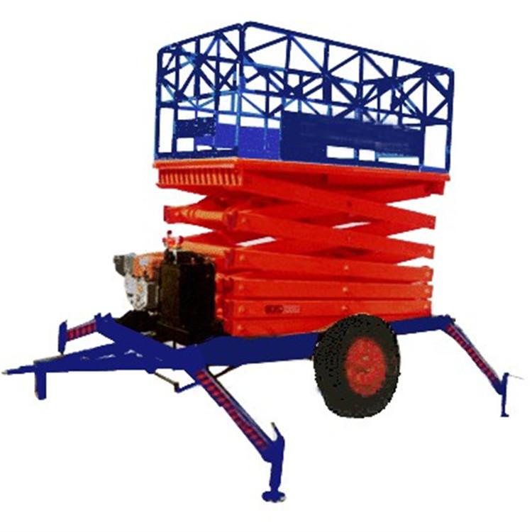 移动剪叉式升降机四轮高空作业举升车液压升降台图片