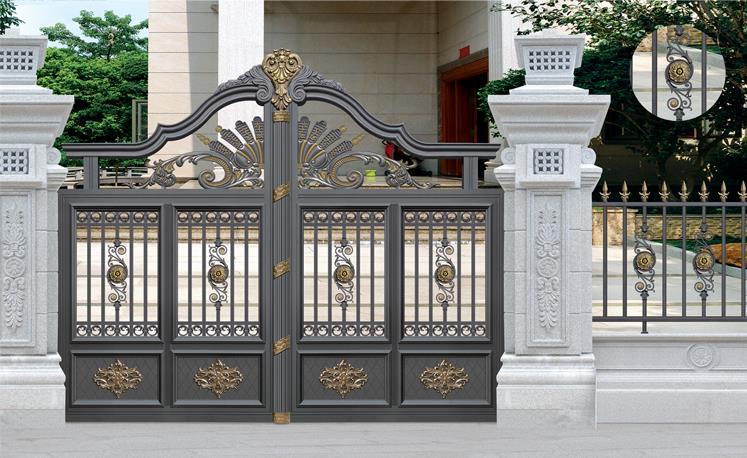 豪华别墅铝合金大门,豪华铝艺大门的型号规格