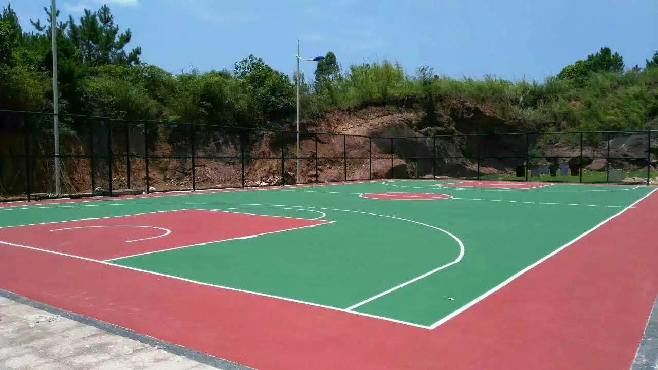 校园小区单位丙烯酸球场施工硬地丙烯酸球场工程